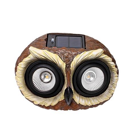Outdoor Solar Garden Owl Lights   Multi Color Changing LED Solar Owl Decor  Lights For