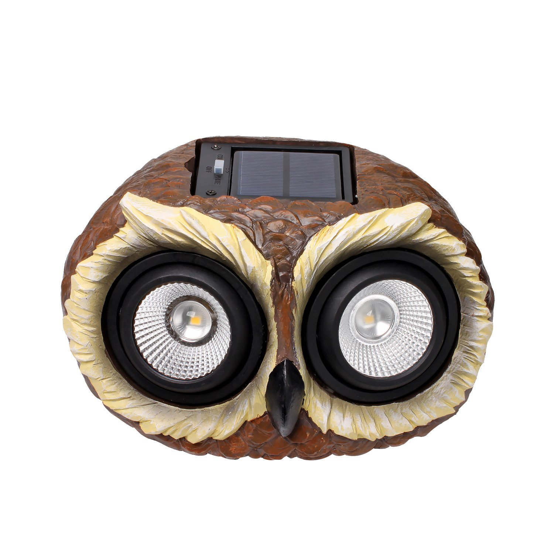 Outdoor Solar Garden Owl Lights - Multi-color Changing LED Solar Owl Decor Lights for Garden, Patio, Backyard