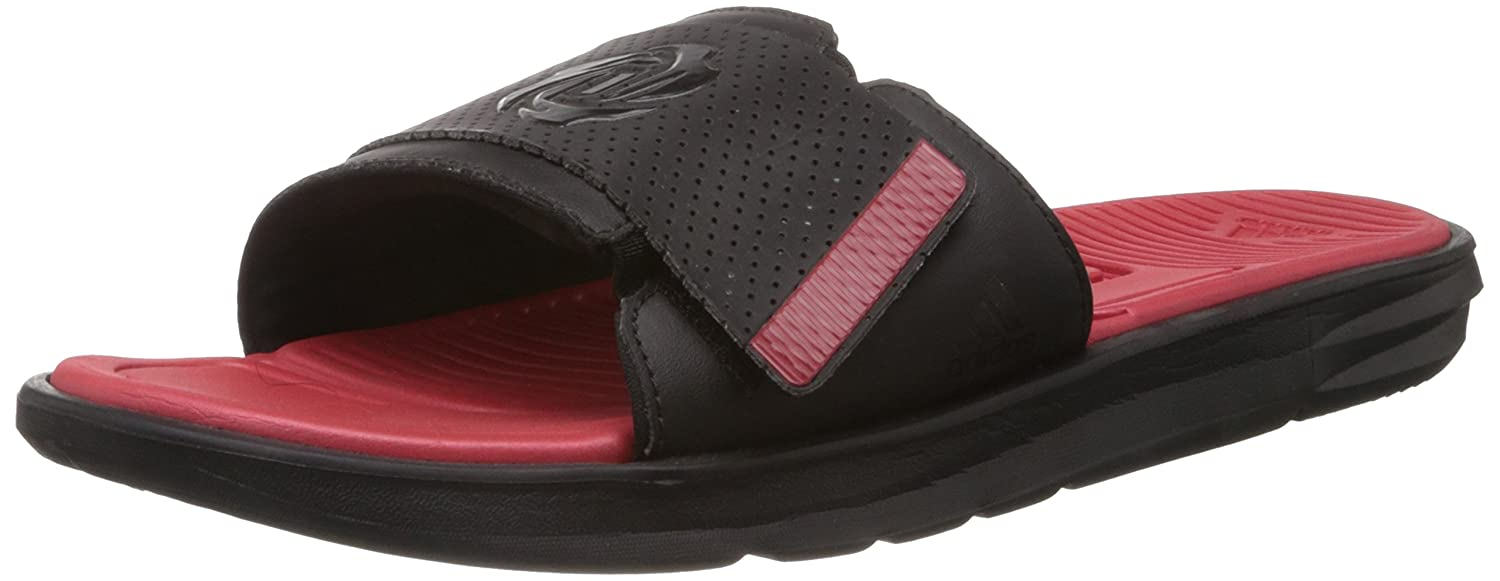 e4cf811e5144 Adidas Men s D Rose Sc Slide M Black and Red Flip Flops Thong Sandals - 9  Uk  Buy Online at Low Prices in India - Amazon.in