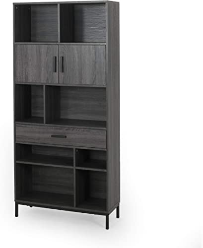 Great Deal Furniture Yvonne Contemporary Faux Wood Cube Unit Bookcase