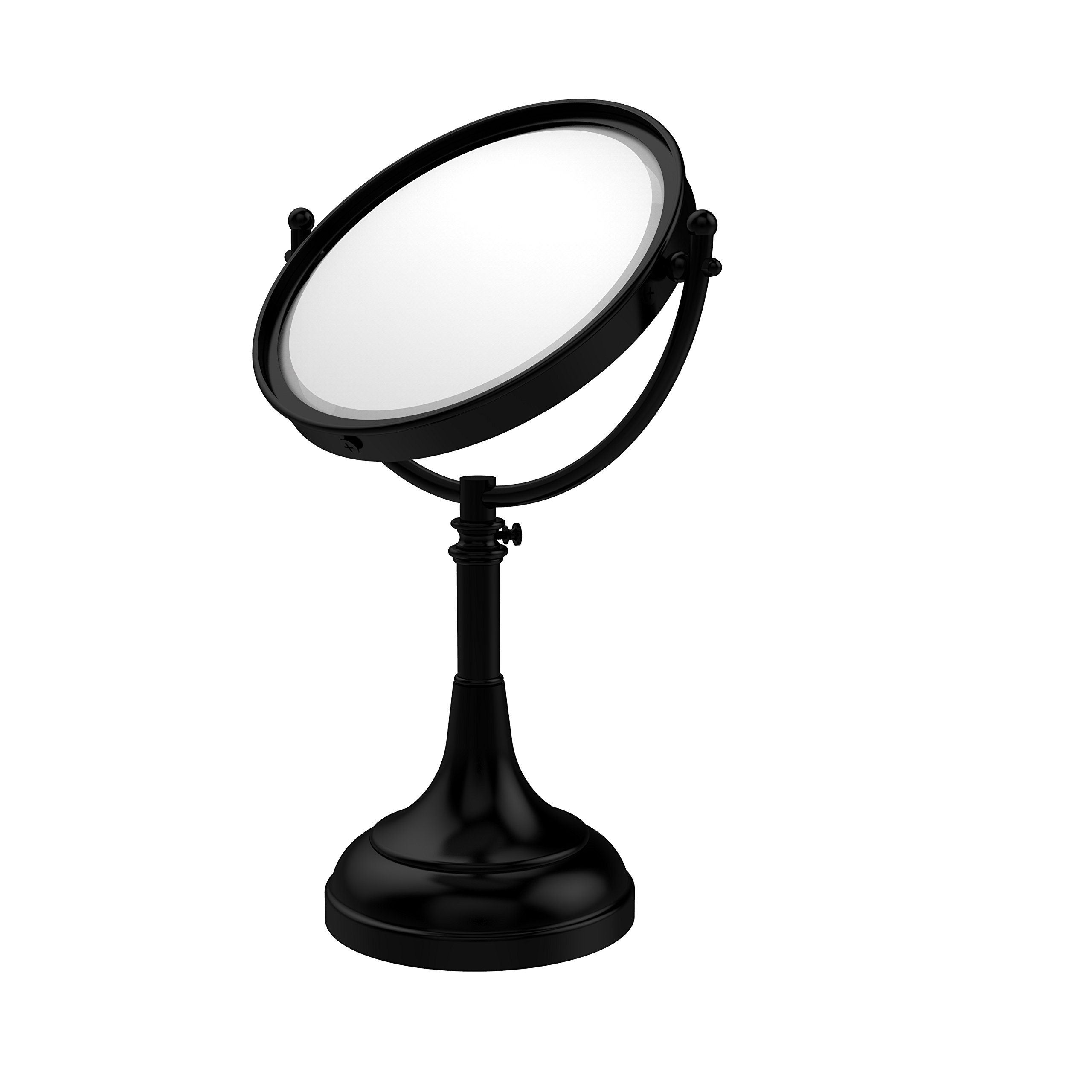 Allied Brass DM-1/4X-BKM 8-Inch Table Mirror with 4x Magnification, Matte Black