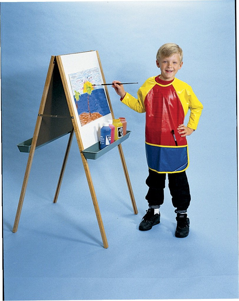 School Smart Full Protection Vinyl Art Smock - 22 x 18 1/2 inches - Multiple Colors