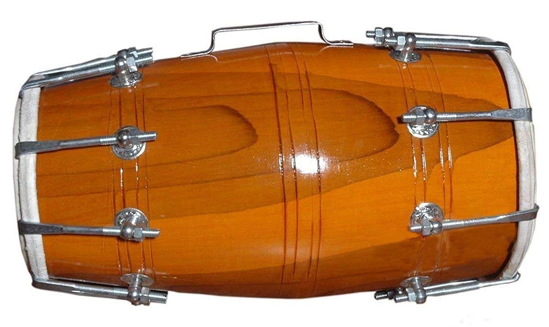 売れ筋商品 Makan Handmade Wood Dholak Indian Nuts Handmade & Bolt Dhol/Dholak With/Dholki Drum Indian Folk Musical Instrument With Carry Bag B07NHWR929, ホソイリムラ:a93e80e5 --- a0267596.xsph.ru