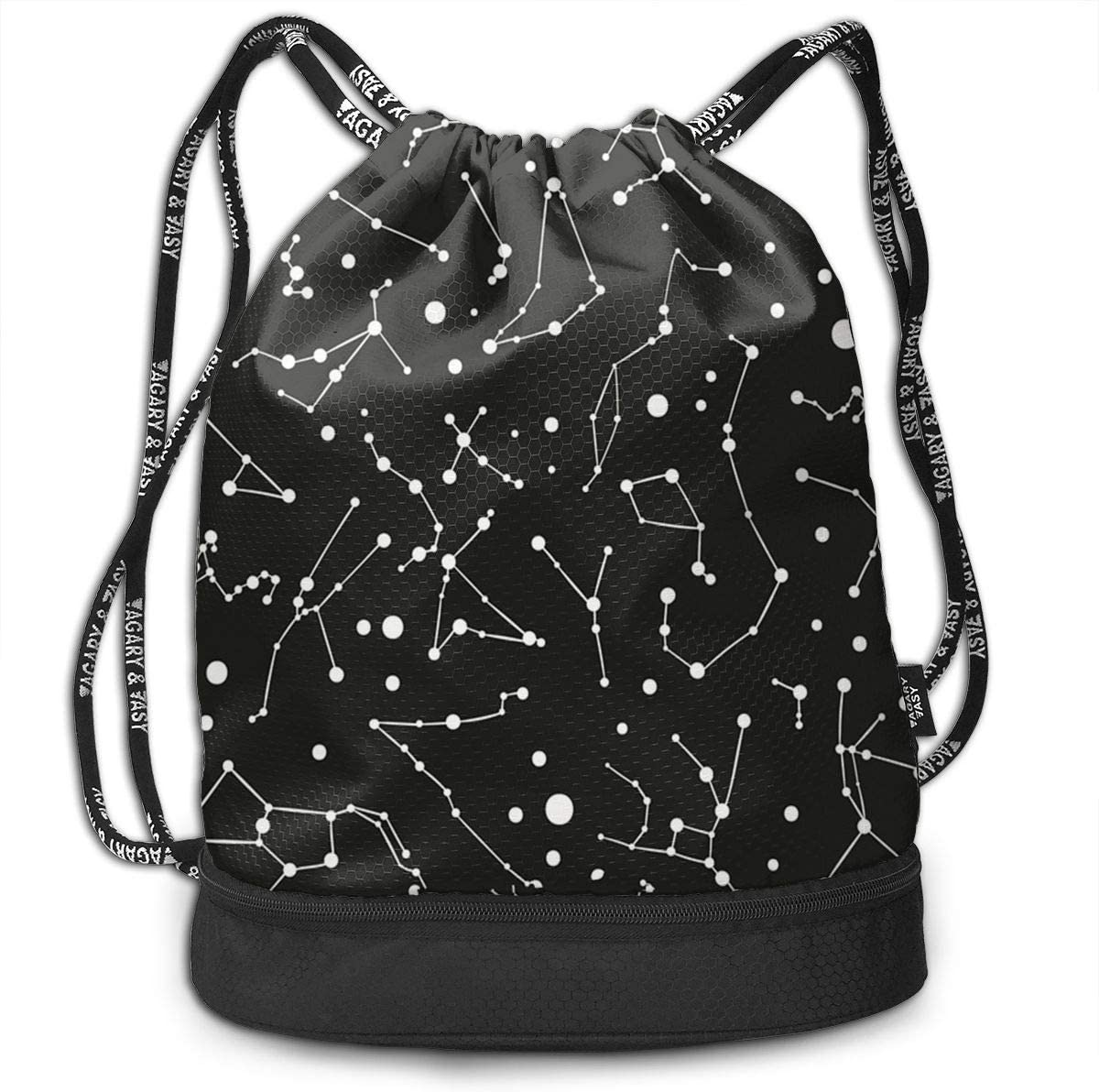 HUOPR5Q Colorful Galaxy Space Moon Star Drawstring Backpack Sport Gym Sack Shoulder Bulk Bag Dance Bag for School Travel