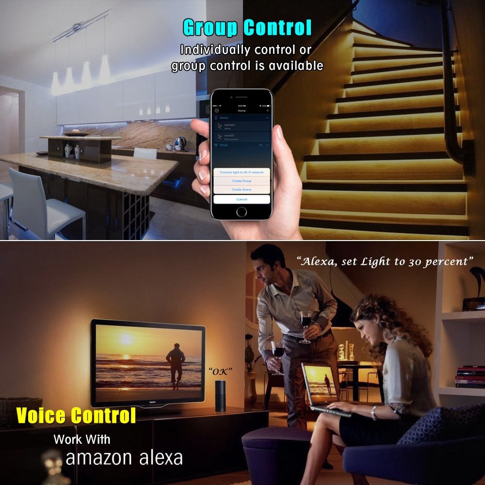 Nexlux WiFi Wireless LED Smart Controller Alexa Google Home IFTTT Compatible,Working with Android,iOS System, GRB,BGR, RGB LED Strip Lights DC 12V 24V(No Power Adapter Included) by Nexlux (Image #4)