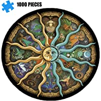 Adult Jigsaw Puzzle 1000 Pieces-Chinese Zodiac, Educational Intellectual Decompression Round Fun Jigsaw Puzzle, Children…