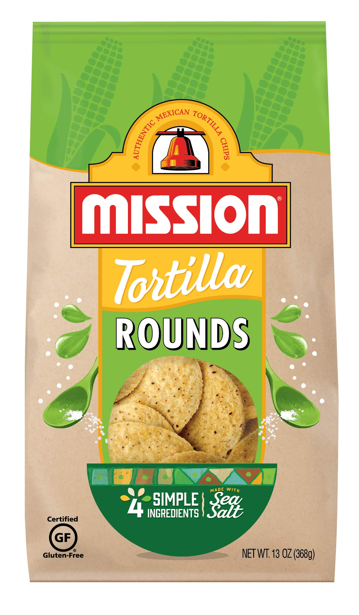 Mission Rounds Tortilla Chips | Gluten Free | Restaurant Style Corn Tortilla Chips | 13 oz by Mission