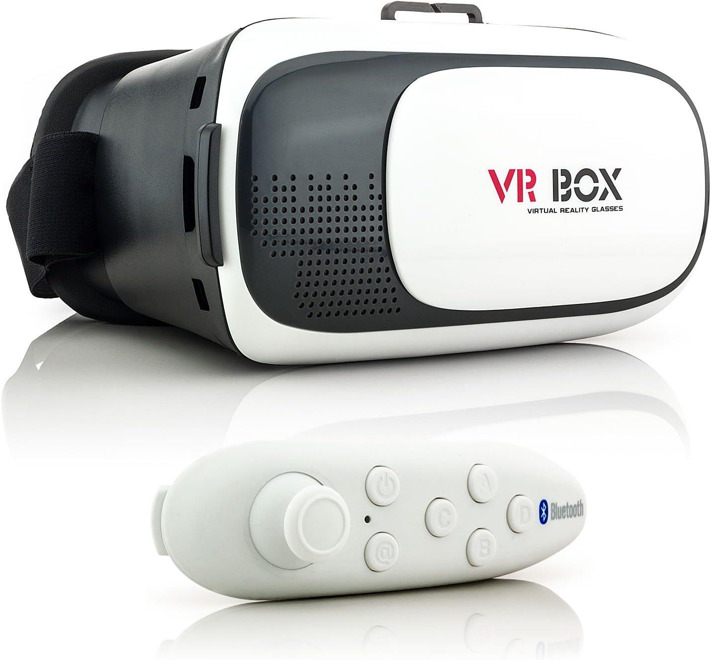 Saxonia VR Box 2 - Gafas 3D conjuncto con Bluetooth Controlador ...