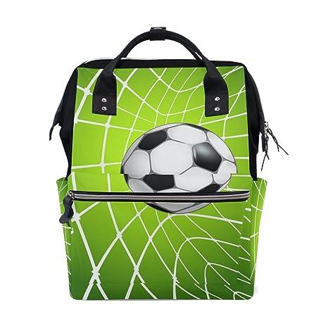 COOSUN - Mochila de viaje, diseño de fútbol en red