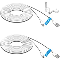 2 Pack 26FT Power Extension Cable Compatible for Wyze Cam Pan,WyzeCam,Kasa Cam.YI Dome Home Camera,Furbo Dog,Nest Cam…