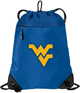 Broad Bay Official West Virginia University Drawstring Backpack WVU Cinch  Bag - Cool MESH   Microfiber fc3d91a72