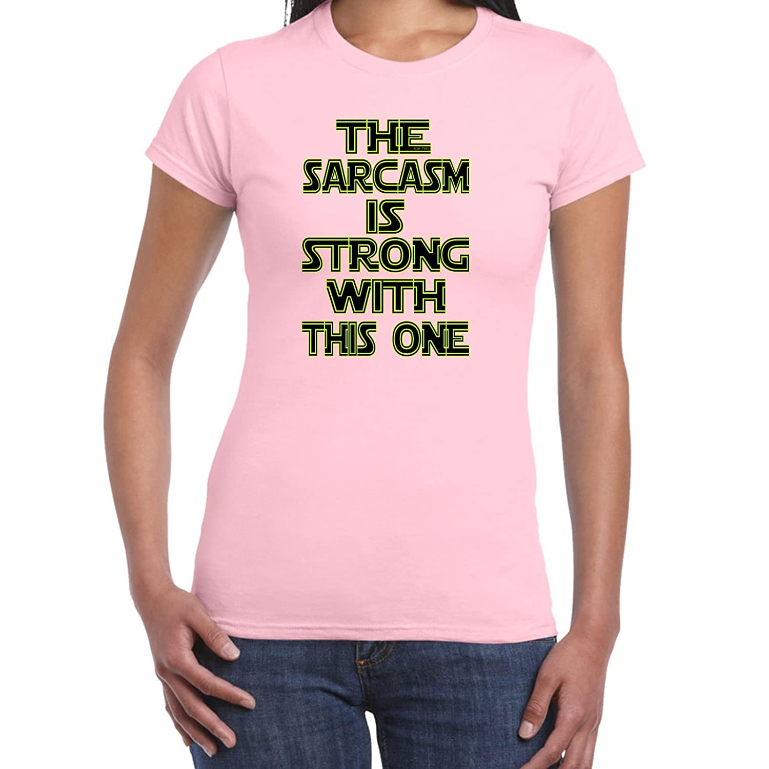 Womens Funny T Shirts-Sarcasm is Strong Star Wars Inspired-Tshirt-Funny Gift