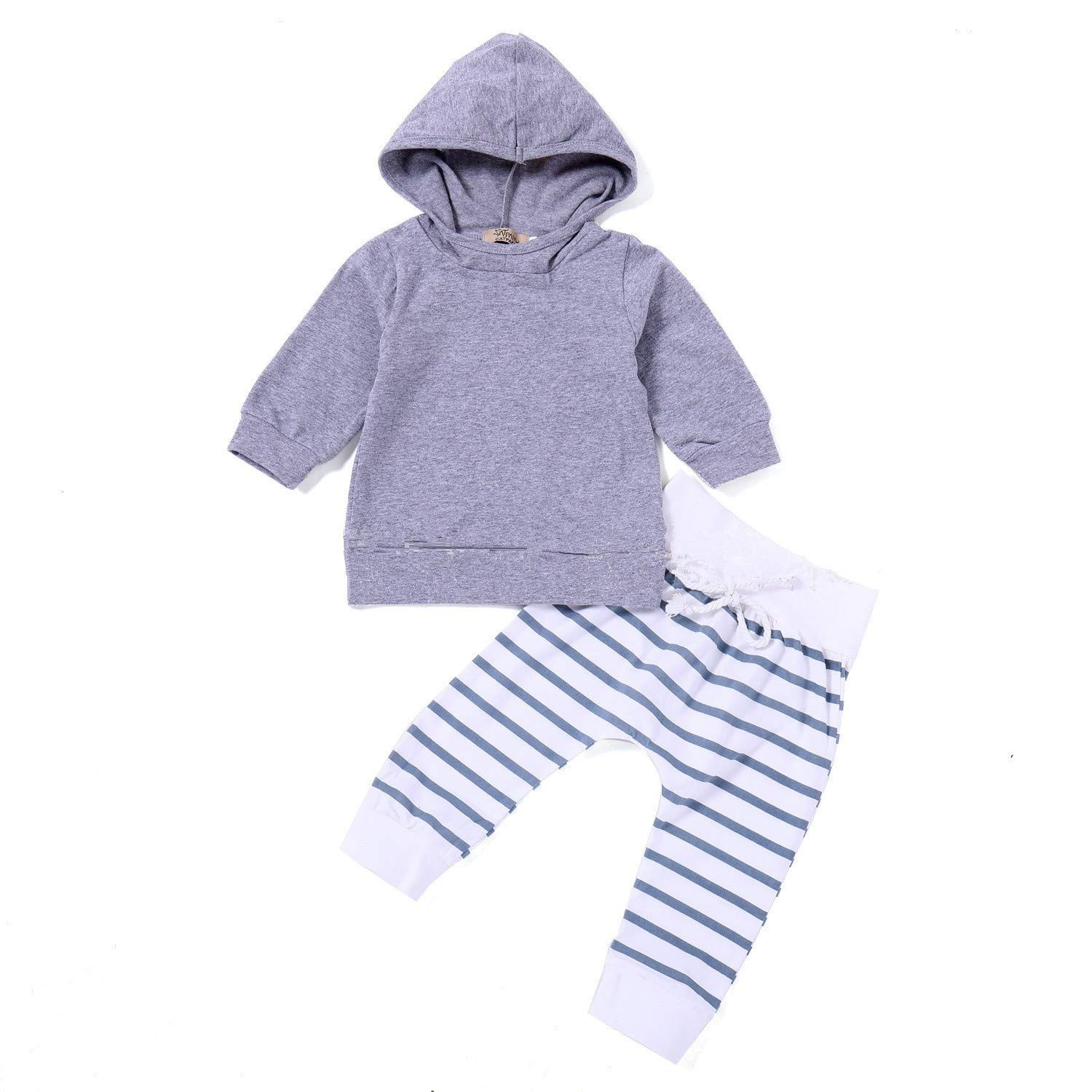 i-Auto Time Baby Boy Girl Clothes Long Sleeve Hoodie Tops Sweatsuit Pants Outfit Set
