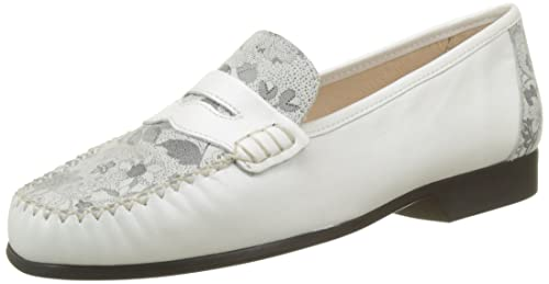 Joelle, Mocassins Femme, Blanc (Blanc Fleuri), 38 EULuxat