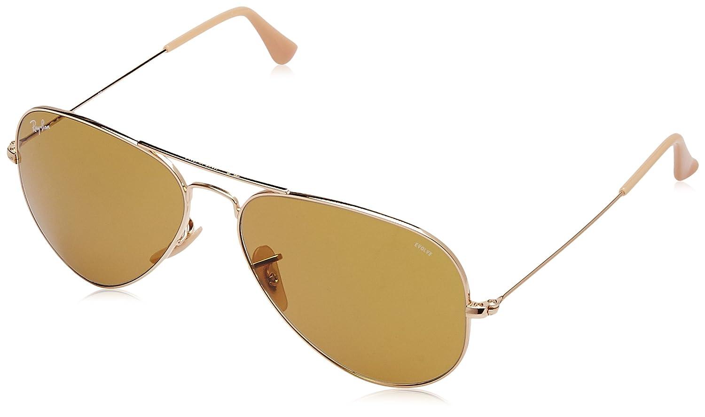19b79fd869a57 Amazon.com  Ray-Ban Men s 0rb302590644i58aviator Large Metal Aviator  Sunglasses GOLD 58 mm  Clothing