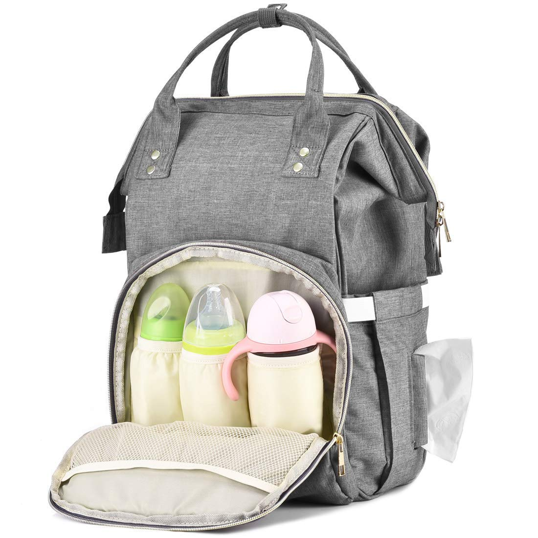 EFFORTLE Baby Diaper Bag Backpack Practical Storage Units Large Capacity Nappy Bags Stylish Diaper Bag Organizer by EFFORTLE