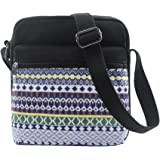 Small Crossbody Bag Purse Canvas Organizer Messenger Bag Travel Shoulder Bag for Girls and Women
