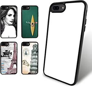 O BOSSTOP 5PCS Sublimation Blanks Phone Cases Covers for iPhone 8 Plus and iPhone 7 Plus 5.5 Inches Make Your Own Personalize Phone Cases
