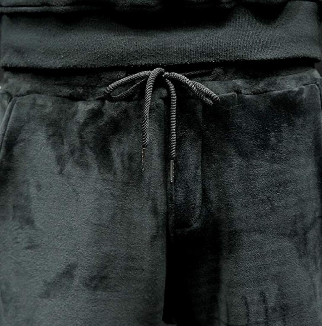 Beloved Mens Fashion Thicken Plus Size Cotton Soild Flannel Pant