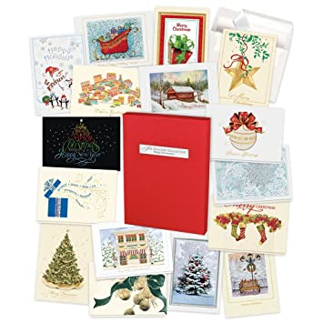 Amazon Com Holiday Cards Assortment Box 35 High Quality Cards And