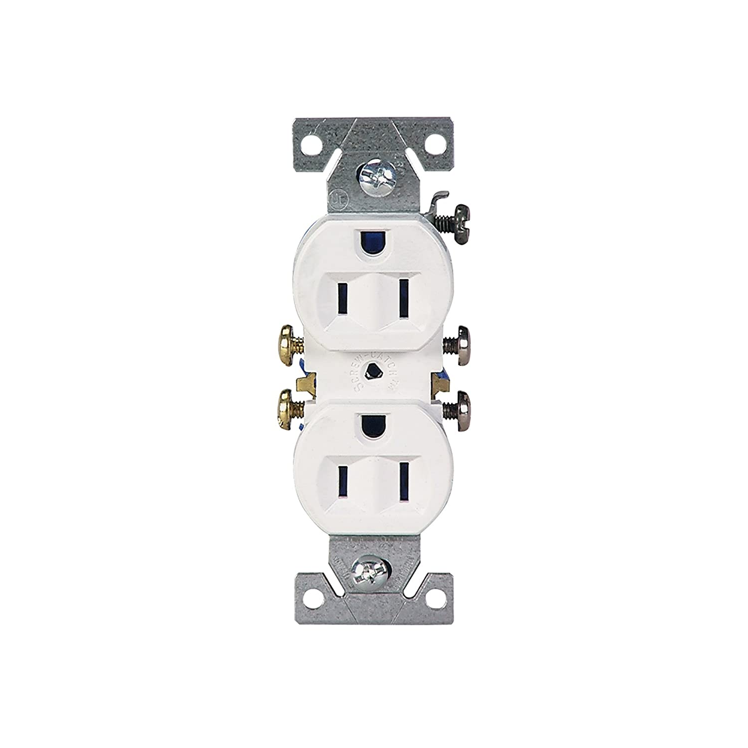 Cooper Wiring Devices 15-Amp White Duplex Electrical Outlet; White on