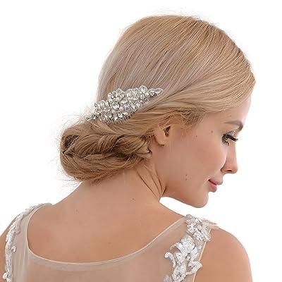 Bandeau de mariage avec cristaux, perles Mariage Bandeau, Floral mariée cheveux Band, bande de cheveux de mariage, H270