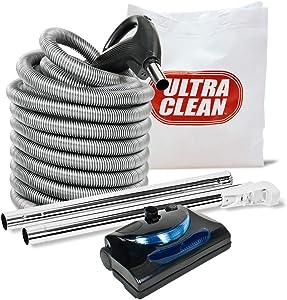 Central Vacuum 30ft 2 way hose Blackhawk electric powerhead kit Nutone Beam Eureka (pigtail)