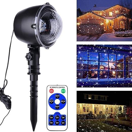 JGWJJ Navidad de Las Nevadas, Las Luces del proyector Impermeable ...
