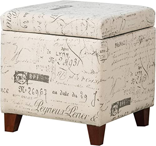 Furnistar 17.3 Modern Design Fabric Square Storage Ottoman