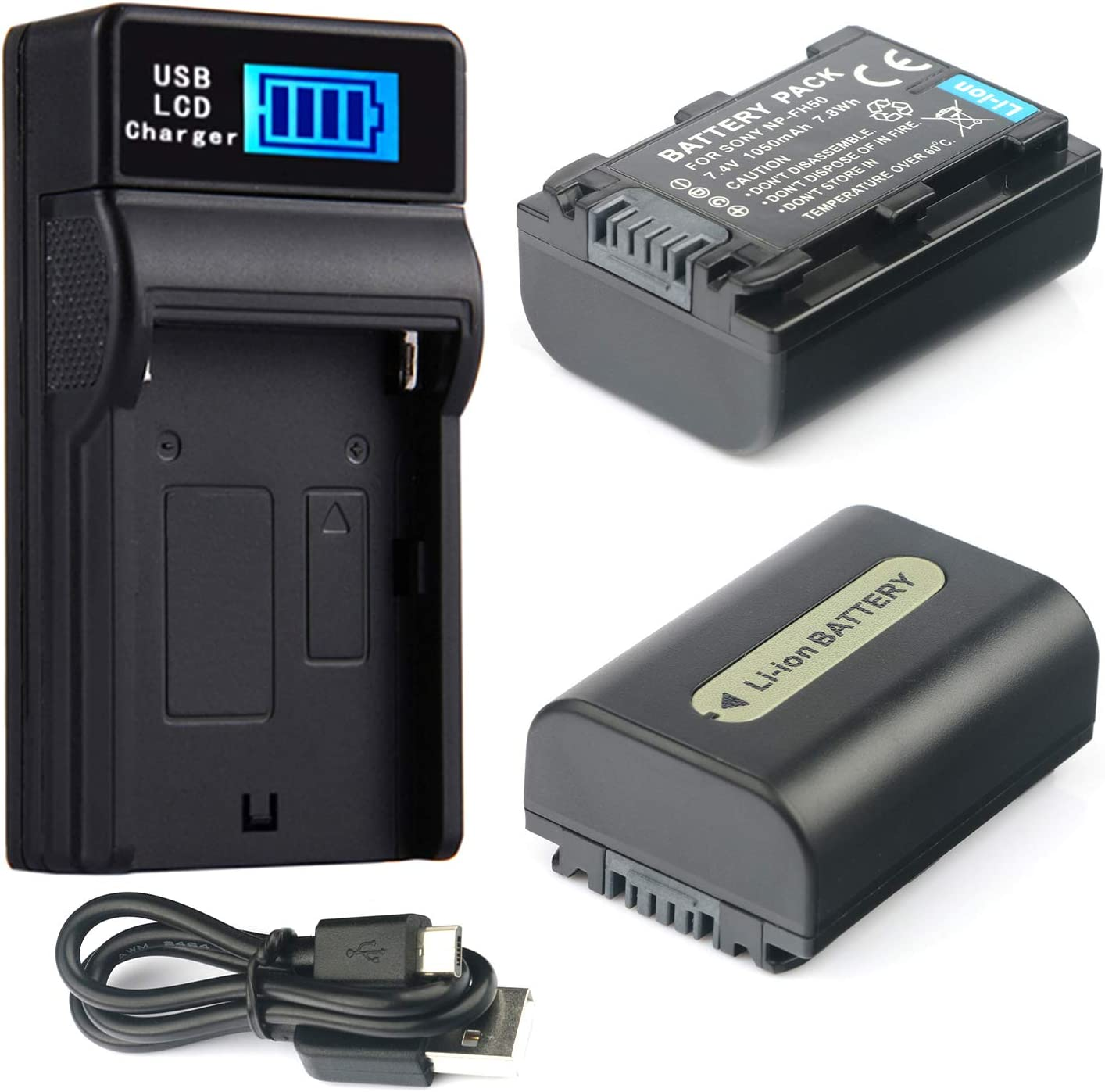 DCR-SR65 DCR-SR55 DCR-SR62 DCR-SR57 DCR-SR67 Handycam Camcorder LCD Quick Battery Charger for Sony DCR-SR52