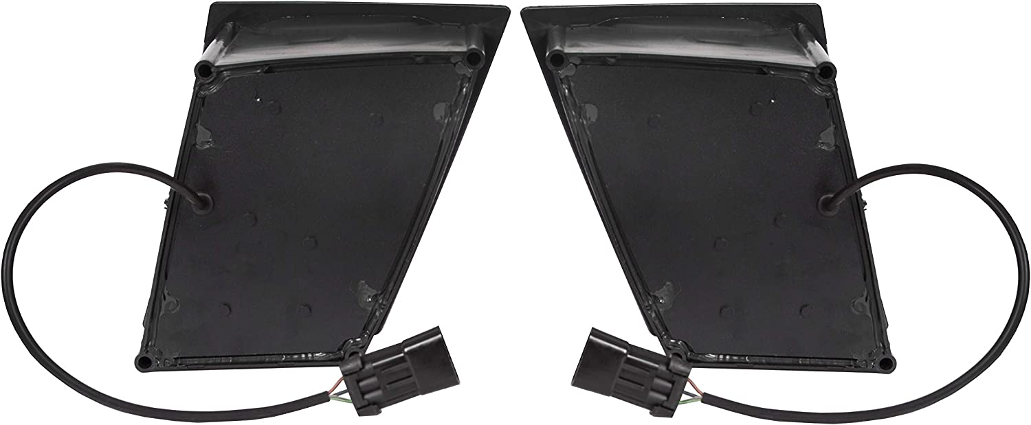 ECOTRIC Pair Set 12 Led Fog Light Lamp Bumper LH/&RH Passenger/&Driver Compatible With Volvo Vt Vnl 2003 and Newer