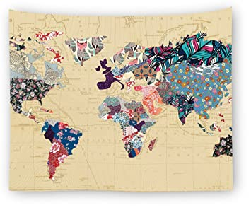 Amazon utopone wall tapestry world map colorful tapestry wall utopone wall tapestry world map colorful tapestry wall hangings large tapestry for bedroom living room gumiabroncs Choice Image