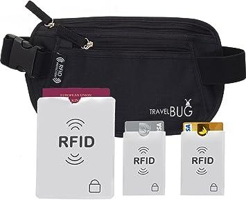 CEINTURE RFID POUR ARGENT PORTE-MONNAIE FOURNIT PROTECTION CONTRE VOL  D IDENTITÉ  a8d1bd6feff