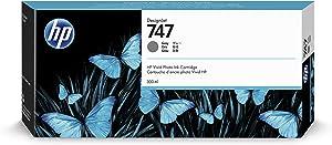 HP 747 Gray 300-ml Genuine Ink Cartridge (P2V86A) for DesignJet Z9+ Large Format Printers