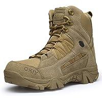 ailishabroy Ejército Comando Masculino Combate Desierto Invierno Al Aire Libre Senderismo Botas Aterrizaje Zapatos…