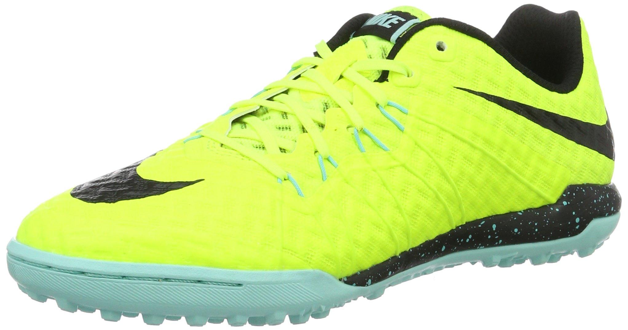 Giầy thể thao chính hãng Nike Men's Hypervenomx Finale Tf Turf Soccer Shoe, Màu Volt/Black Black Hyper Turq, Size 9.5 US/ 43 EU