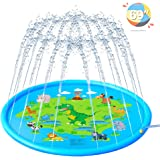 AHK Splash Pad, Sprinkler for Kids, 69 Inches Wading Pool for Learning, Water-Filled Play Mat Sprinkler Pool, Inflatable Water Toys, Large Outdoor Swimming Pool for Babies, Toddlers