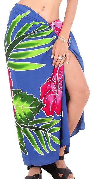 "ad9f41624c LA LEELA Rayon Scarf Dress Bikini Wrap Sarong Printed 78""X43"" ..."