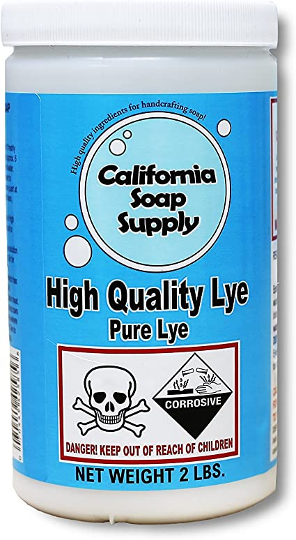 Red Crown High Test Lye for Soap Making Case of 3-2 Lb Packages