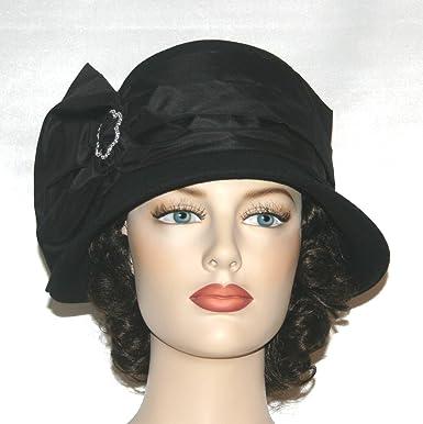 bf0b5c9a66f7f0 Amazon.com: Flapper Hat Edwardian Tea Hat Downton Abbey Hats Josephine Cloche  Hat: Clothing