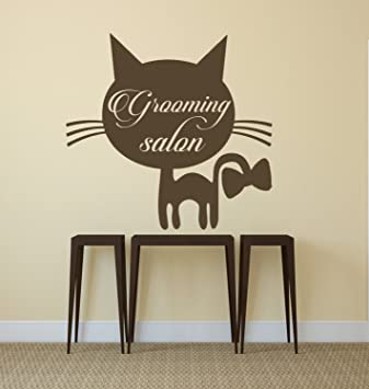 ditooms pared adhesivos adhesivo gato para los animales domésticos de vinilo decoración de interiores diseño veterinario tienda Grooming salón murales: ...