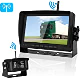Emmako Digital Wireless Backup Camera 7'' Monitor System Kit No Interference RV/Truck/5th Wheel/Trailer/Camper IP69K Waterproof Rear/Side/Front Facing View Constantly/Reverse Use Optional