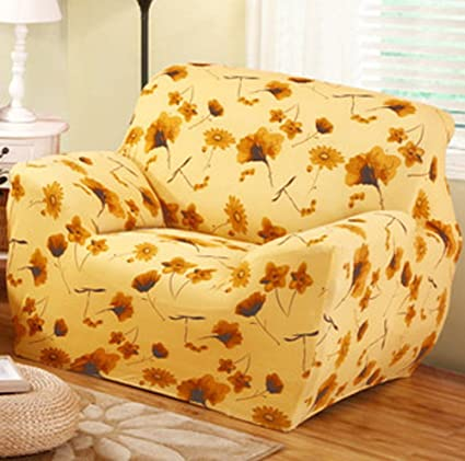 Incredible Chezmax Printed Couch Cover Polyester Spandex Fabric Sofa Cover 1 Piece Soft Stretched Loveseat Sofa Slipcovers Ncnpc Chair Design For Home Ncnpcorg