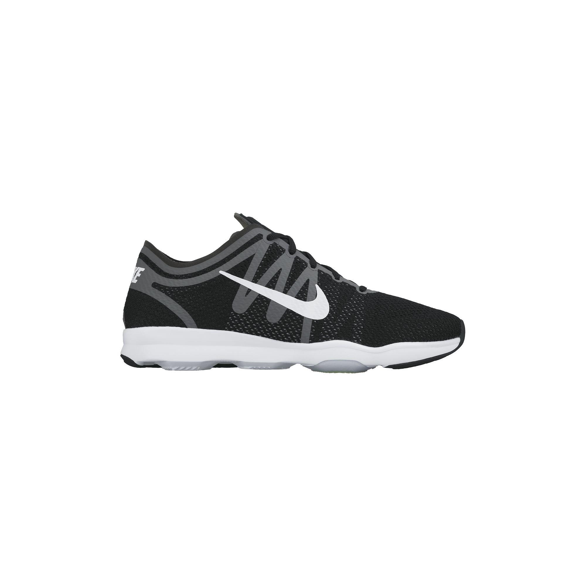 Women's Nike Air Zoom Fit 2 Training Shoe Black/Grey/White Size 9.5 M US