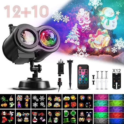 LG&S Ocean Wave Navidad Las Luces del proyector, 2-en-1 Moving ...