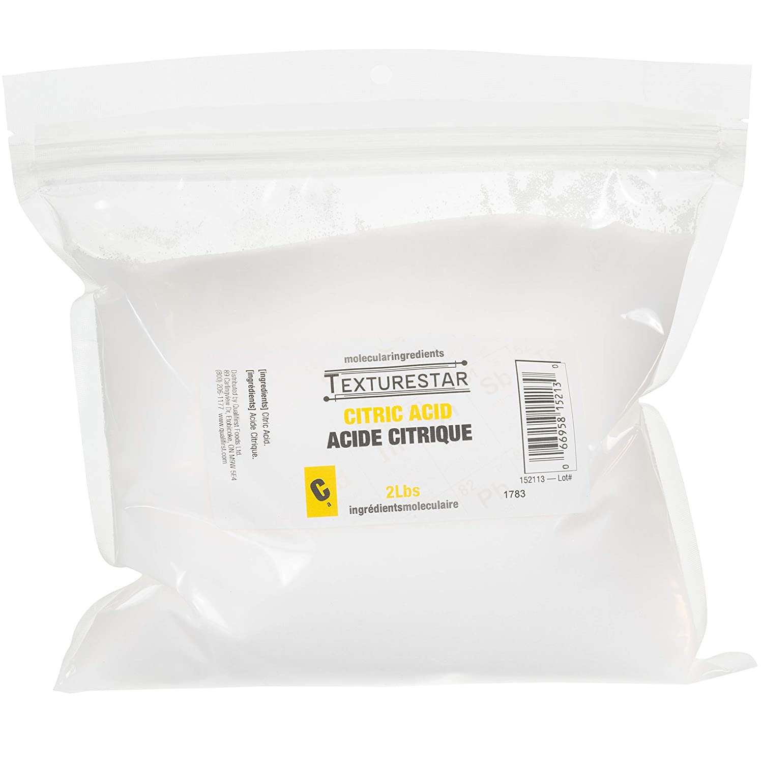 TextureStar Citric Acid Powder - 2 Pound (0.9 Kg), Perfect For Cleaning, Descaling, Bathbombs | All Natural, 100% Pure, Food Grade, Highest Quality, Non-GMO, Product of USA