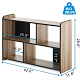 FITUEYES End Table with Storage,Floor TV Media