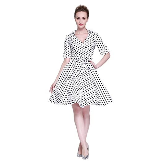 eb15ad35f Heroecol Vintage 1950s 50s Dress Style Retro Rockabiily Cocktail V ...