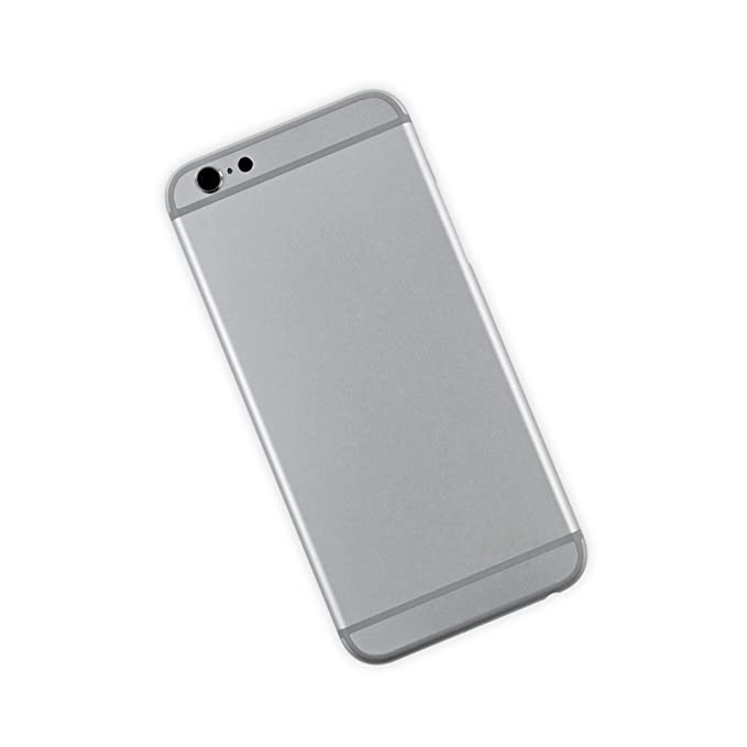 timeless design c4cc1 ed7ba Amazon.com: Blank Rear Case Compatible with iPhone 6 - Silver: Cell ...