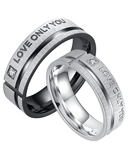 Amazon.com: LineAve Love Only You - Anillo de compromiso ...